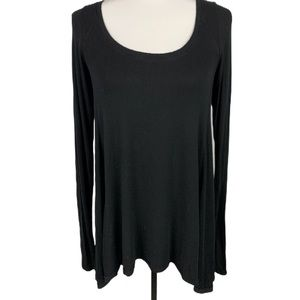 Free People Black Long Sleeve Top Size Small